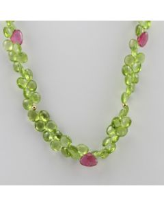 Peridot Drop - 1 Line - 171.50 carats - 16 inches - (CSNKL1029)