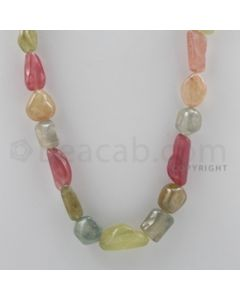 Multi-Sapphire Tumbled - 1 Line - 576.60 carats - 22 inches - (MSTUB1002)