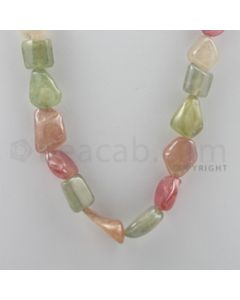 Multi-Sapphire Tumbled - 1 Line - 453.00 carats - 18 inches - (MSTUB1005)
