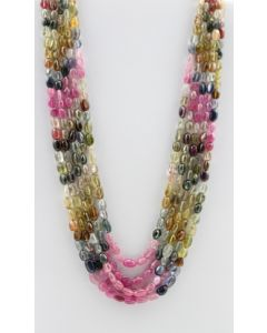 Multi-Sapphire Tumbled Beads - 5 Lines - 534.00 carats - 16 to 19 inches - (MSTuB1037)