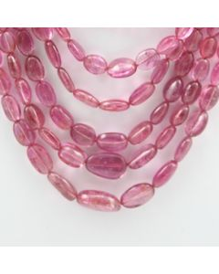 Pink Tourmaline Long Tumbled Beads - 9 Lines - 370.50 carats - 15 to 20 inches - (ToTub1001)