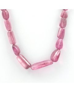 Pink Tourmaline Long Tumbled Beads - 1 Line - 72.40 carats - 16 inches - (ToTub1018)