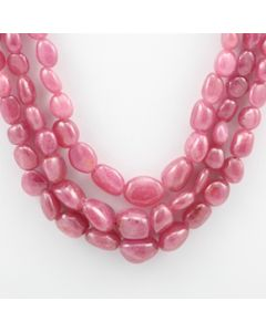 Pink Sapphire Tumbled - 3 Lines - 459.40 carats - 15 to 17 inches - (PnSTuB1011)