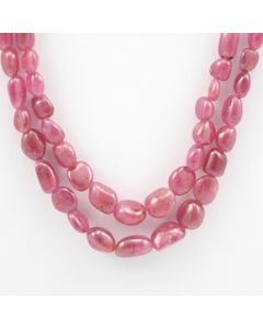 Pink Sapphire Tumbled - 2 Lines - 280.05 carats - 16 to 18 inches - (PnSTuB1015)