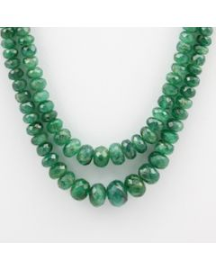 Emerald Faceted - 2 Lines - 115.00 carats - 16 to 17 inches - (EmFB1006)