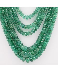 Emerald Faceted - 6 Lines - 272.00 carats - 15 to 19 inches - (EmFB1009)