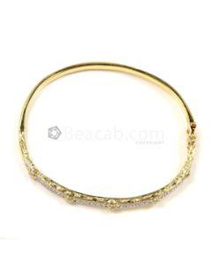 Round Shape White Diamond Bracelet in 18kt Yellow Gold - 12 grams - EST1333