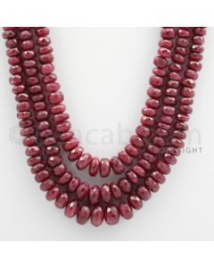 Ruby Faceted - 3 Lines - 638.90 carats - 18 to 20 inches - (RFB1007)