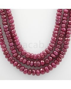 Ruby Faceted - 3 Lines - 305.07 carats - 18 to 20 inches - (RFB1023)
