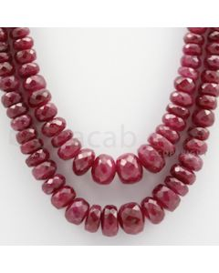 Ruby Faceted - 2 Lines - 296.85 carats - 16 to 16 1/2 inches - (RFB1005)