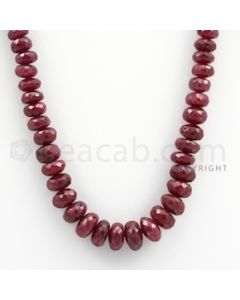 Ruby Faceted - 1 Line - 290.00 carats - 18 inches - (RFB1014)