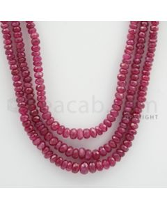 Ruby Faceted - 3 Lines - 237.70 carats - 20 to 22 inches - (RFB1018)