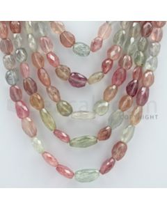 Multi-Sapphire Faceted Long Beads - 5 Lines - 716.10 carats - 15 to 21 inches - (MSFLB1010)