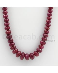 Ruby Roundel Beads - 1 Line - 233.00 carats - 22 inches - (RuRoB1014)