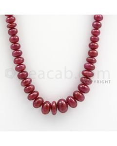 Ruby Roundel Beads - 1 Line - 242.00 carats - 18 inches - (RuRoB1005)