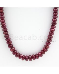 Ruby Roundel Beads - 1 Line - 252.00 carats - 25 inches - (RuRoB1004)