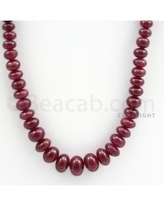 Ruby Roundel Beads - 1 Line - 217.70 carats - 18 inches - (RuRoB1002)