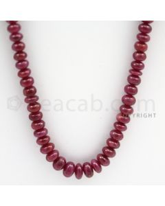 Ruby Roundel Beads - 1 Line - 236.00 carats - 23 inches - (RuRoB1007)