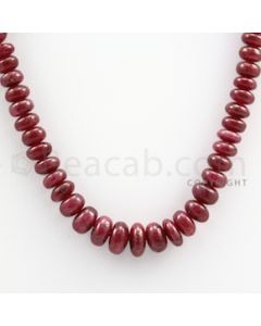 Ruby Roundel Beads - 1 Line - 132.00 carats - 14 inches - (RuRoB1013)