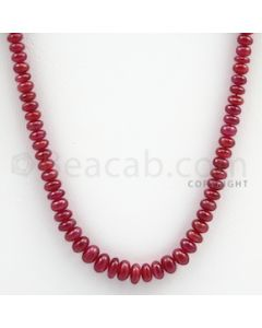 Ruby Roundel Beads - 1 Line - 120.50 carats - 19 inches - (RuRoB1017)