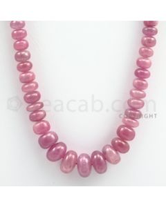 Pink Sapphire Roundel Beads - 1 Line - 249.00 carats - 18 inches - (PnSRoB1006)