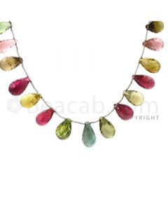 21 pcs - Medium Tones - Tourmaline Faceted Drops (AAA) - 108.00 cts. (TFD1008)