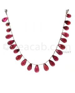 21 pcs - Dark Pink - Tourmaline Faceted Drops (AAA) - 148.50 cts. (TFD1010)