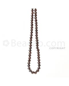 1 Line - 7 to 8 mm - Brown Diamond Faceted Beads - 207.90 cts. (BRNDIA1018)