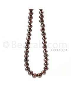 1 Line - 6.90 to 7.90 mm - Brown Diamond Faceted Beads - 203.15 cts. (BRNDIA1019)