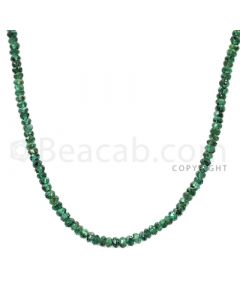 48 Lines - Green Emerald Faceted Beads - 1436.00 cts - 2.80 to 3.5 mm (EMFB1032)