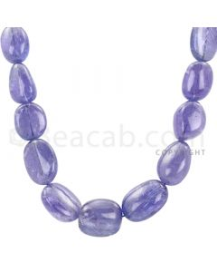 1 Line - Violet Tanzanite Tumbled Beads - 290.15 cts - 10.2 x 9.1 mm to 17.2 x 13 mm (TZTUB1010)