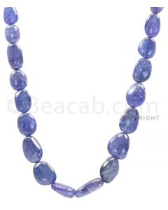 1 Line - Violet Tanzanite Tumbled Beads - 299.6 cts - 9.1 x 9.1 mm to 19.5 x 14 mm (TZTUB1007)
