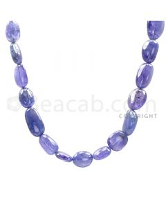 1 Line - Violet Tanzanite Tumbled Beads - 498.8 cts - 12.5 x 7.5 mm to 19.3 x 11.5 mm (TZTUB1008)