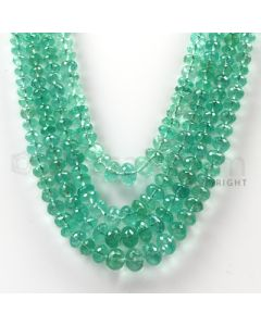4 Lines - Medium Green Emerald Faceted Beads - 411.94 cts - 3.2 to 8.3 mm (EMFB1034)