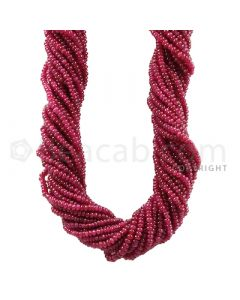20 Lines - Medium Red Ruby Smooth Beads - 459.37 cts - 2.4 mm (RSB1040)
