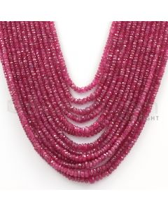 13 Lines - Medium Red Ruby Faceted Beads - 620.1 cts - 2.4 to 5.5 mm (RFB1090)