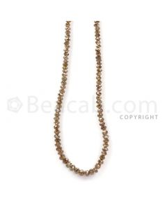 1 Line - Champagne Diamond Faceted Beads - 35.56 cts - 1.8 to 4 mm (BRNDIA1042)