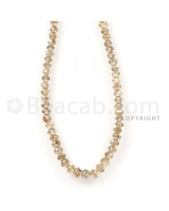 1 Line - Champagne Diamond Faceted Beads - 36.12 cts - 2.7 to 3.6 mm (BRNDIA1038)