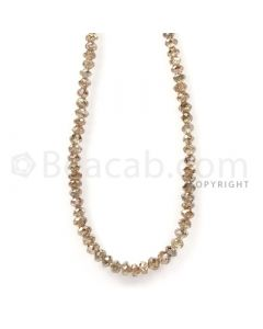 1 Line - Champagne Diamond Faceted Beads - 48.96 cts - 3.5 to 4.1 mm (BRNDIA1043)