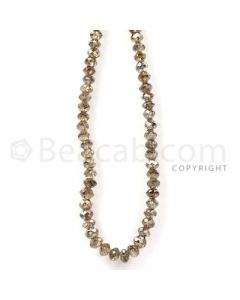 1 Line - Champagne Diamond Faceted Beads - 47.11 cts - 3.3 to 4 mm (BRNDIA1045)