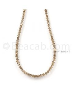 1 Line - Champagne Diamond Faceted Beads - 23.5 cts - 2.2 to 3.1 mm (BRNDIA1036)