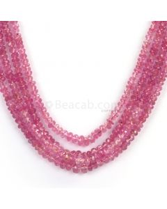 4 Lines - Light Red Ruby Faceted Beads - 207.83 - 2.4 to 4.4 mm (RFB1106)