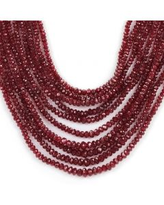 10 Lines - Dark Red Faceted Ruby Beads - 478 - 2.5 to 5.2 mm (RFB1097)