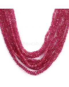 Faceted Medium Red Ruby Beads - 7 Lines - 238.50 - 2.2 to 4.9 mm (RFB1104)