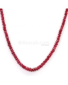 1 Line - Dark Red Ruby Faceted Beads - 34.00 - 2.2 to 3.8 mm (RFB1107)