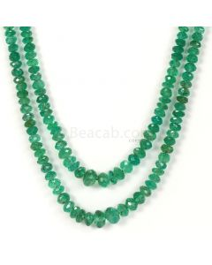 2Lines - Medium Green Emerald Faceted Beads - 115.32 - 3.3 to 7 mm (EMFB1041)