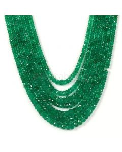 Dark Green Emerald Faceted Beads - 7 Lines - 321.00 - 2.3 to 6.5 mm (EMFB1085)