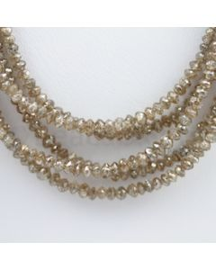 Brown Diamond Faceted Beads - 5 Lines - 116.00 carats (BrnDia1009)