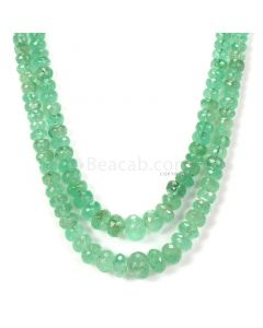 2 Lines - Light Green Emerald Faceted Beads - 276.00 - 5.3 to 11.5 mm (EMFB1099)