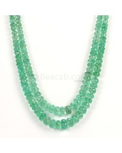 2 Lines - Light Green Emerald Faceted Beads - 237.75 - 3.3 to 10.4 mm (EMFB1095)
